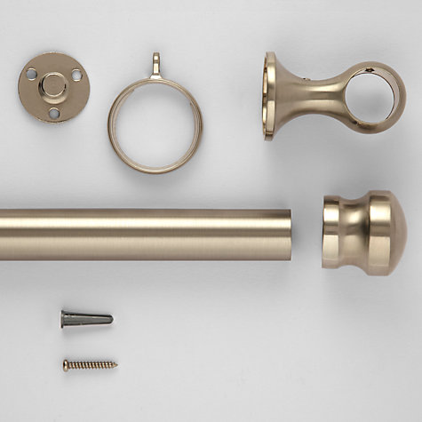 Buy John Lewis Brushed Steel Curtain Pole Kits, Dia.25mm Online at johnlewis.com