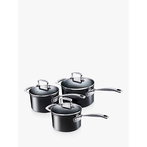Buy Le Creuset Toughened Non-Stick 3 Piece Saucepan Set Online at johnlewis.com
