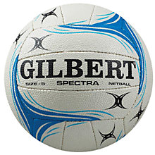 Buy Gilbert Spectra Club Netball, Blue, Size 5 Online at johnlewis.com