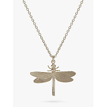 Buy Alex Monroe Dragonfly Necklace, Silver Online at johnlewis.com