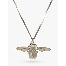 Buy Alex Monroe Bumble Bee Pendant Necklace, Silver Online at johnlewis.com