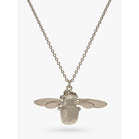 Buy Alex Monroe Sterling Silver Bumble Bee Pendant Necklace, Silver Online at johnlewis.com