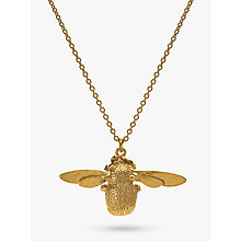 Buy Alex Monroe Bumble Bee Pendant Necklace, Gold Online at johnlewis.com