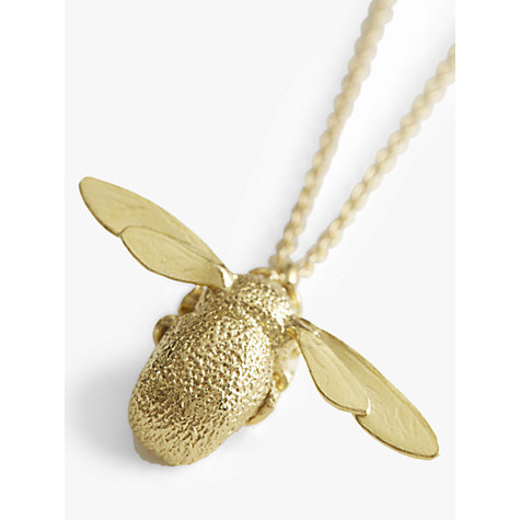 Buy Alex Monroe 22ct Gold Vermeil Bumble Bee Pendant Necklace, Gold Online at johnlewis.com