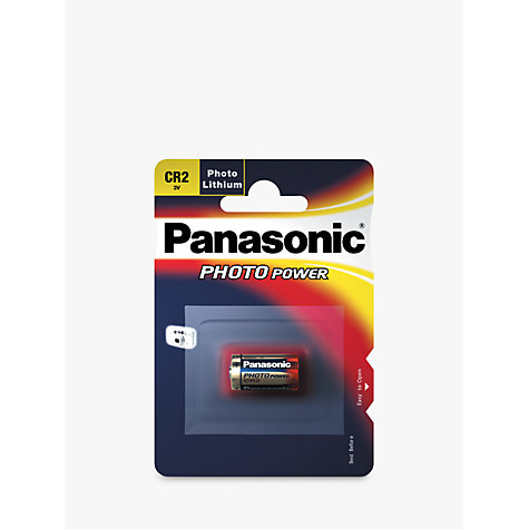 Buy Panasonic CR2 3V Photo Lithium Battery Online at johnlewis.com