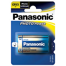 Buy Panasonic CR-V3 Photo Lithium Battery Online at johnlewis.com