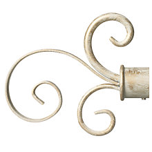 Buy John Lewis Steel Scroll Finial, Cream / Gold, 19mm Online at johnlewis.com