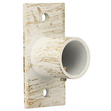 Buy John Lewis Steel Recess Bracket, Cream / Gold, 19mm Online at johnlewis.com