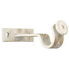 Buy John Lewis Steel Centre Bracket, Cream / Gold, 19mm Online at johnlewis.com