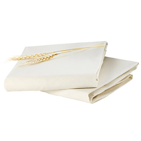 Buy Bloom Alma Fitted Cot Sheet, Natural Wheat, 45 x 90cm, Pack of 2 Online at johnlewis.com