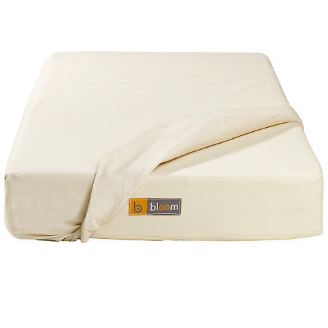 Buy bloom Alma Crib Mini Mattress Protector, H90 x W45cm, Wheat Online at johnlewis.com