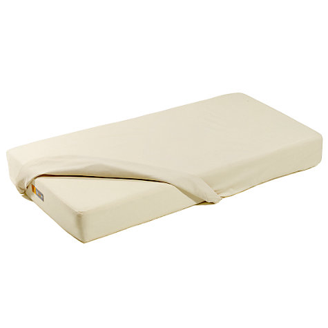 Buy Bloom Alma Cot Mattress Protector, Natural Wheat Online at johnlewis.com