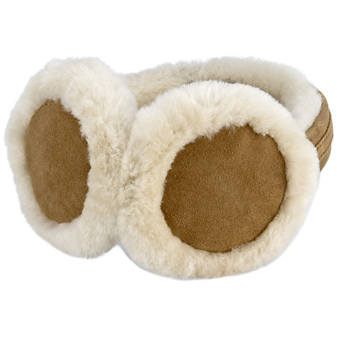 Buy UGG Sheepskin Shearling Earmuffs, Chestnut Online at johnlewis.com