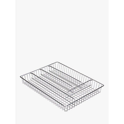 Buy John Lewis Cutlery Tray, Chrome Online at johnlewis.com
