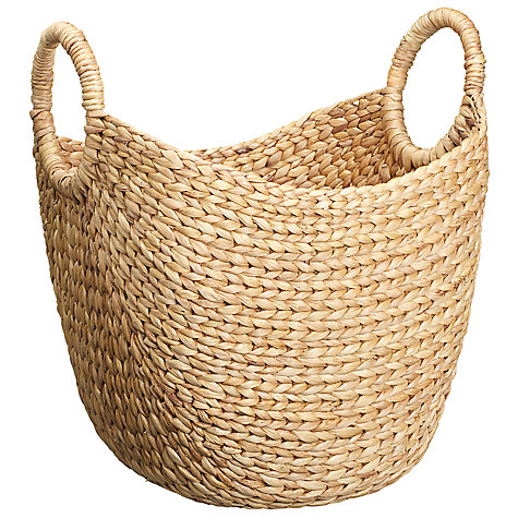 Buy John Lewis Water Hyacinth Basket, Large Online at johnlewis.com