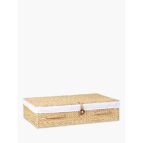 Buy John Lewis Water Hyacinth Underbed Basket Online at johnlewis.com