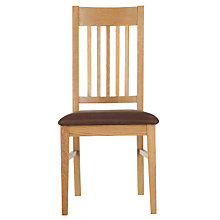 Buy John Lewis Ellis Slatted Dining Chair, Light Oak Online at johnlewis.com