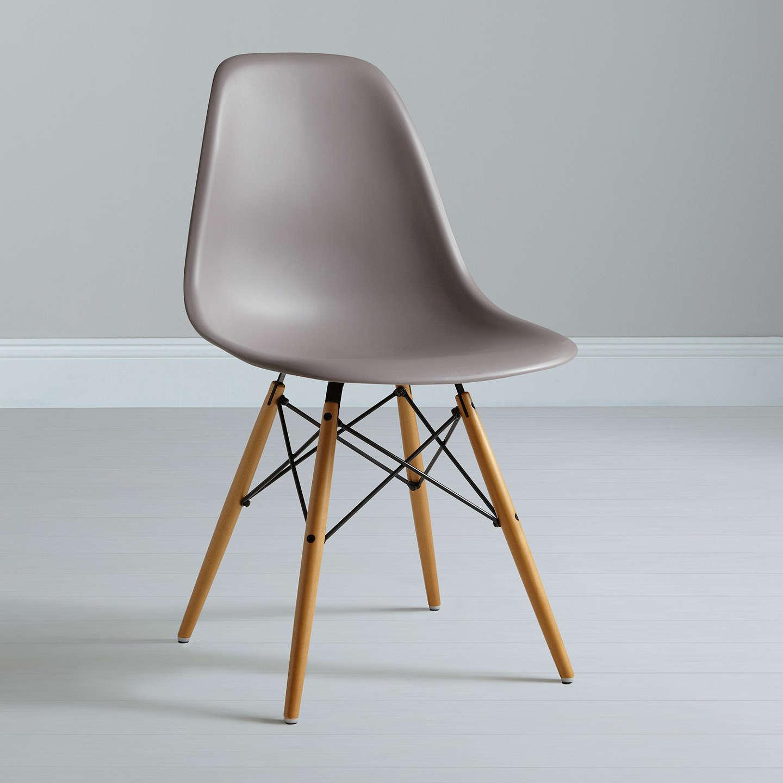 vitra eames dsw side chair mauve grey at john lewis. Black Bedroom Furniture Sets. Home Design Ideas