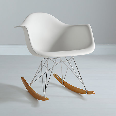 Buy vitra eames rar rocking chair white john lewis - Rocking chair vitra ...