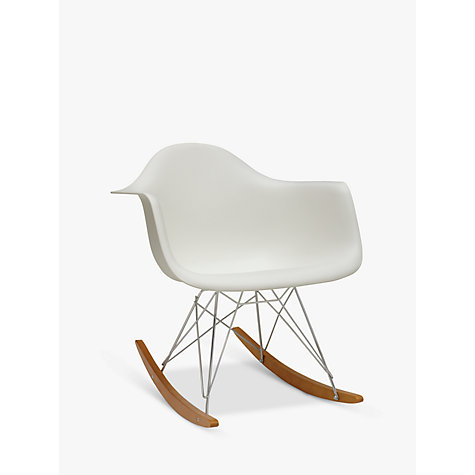 buy vitra eames rar rocking chair white john lewis. Black Bedroom Furniture Sets. Home Design Ideas