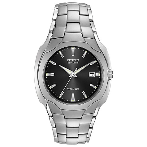 Buy Citizen Eco-Drive BM6560-54H Men's Titanium Bracelet Watch, Silver Online at johnlewis.com
