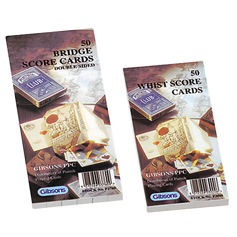 Buy Bridge Score Pads Online at johnlewis.com