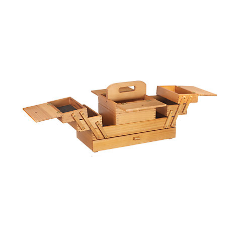 Buy Cantilever Wood Sewing Box, Large Online at johnlewis.com