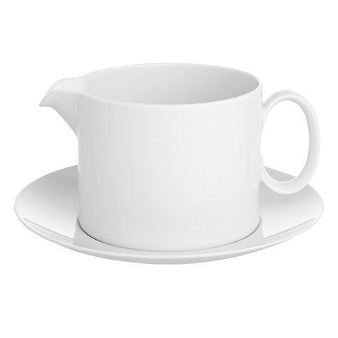 Buy Thomas Medaillon White Sauce Boat & Stand Online at johnlewis.com