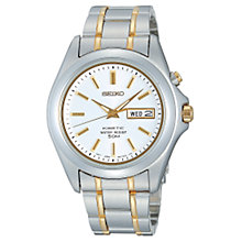 Buy Seiko SMY085 Men's Two-Tone Kinetic Bracelet Watch Online at johnlewis.com