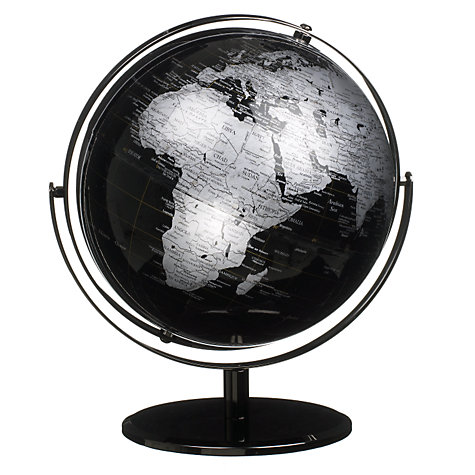 Buy John Lewis Black Globe, Dia. 25.5cm Online at johnlewis.com
