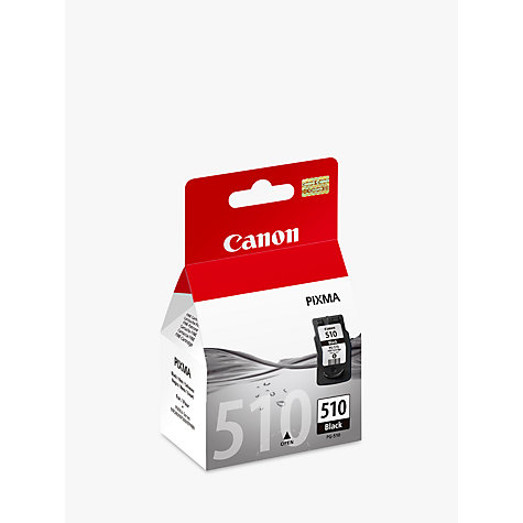 Buy Canon Pixma Inkjet Cartridge, Black, PGI-510 Online at johnlewis.com