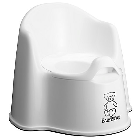 Buy BabyBjörn Potty Chair, White Online at johnlewis.com