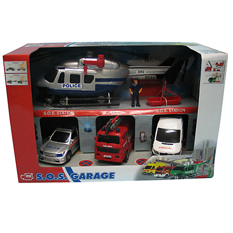 Buy Dickie Toys S.O.S. Emergency Garage, Set of 4 Online at johnlewis.com