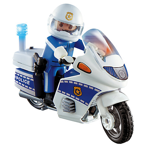 Buy Playmobil Police Officer and Motorcycle Online at johnlewis.com