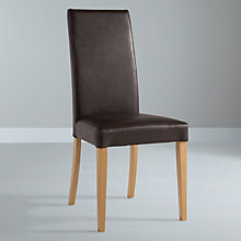 Buy John Lewis Lydia Leatherette Dining Chair, Oak Stained Online at johnlewis.com