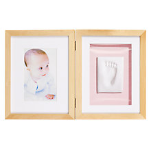 "Buy Pearhead Baby Prints Desktop Multi-aperture, Frame, Natural, 2 Photo, 4 x 6"" (10 x 15cm) 5 x 7"" (13 x 18cm) Online at johnlewis.com"
