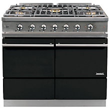 Buy Westahl Cluny WG1052GE Dual Fuel Range Cooker, Black Online at johnlewis.com