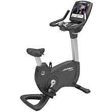 Buy Life Fitness Platinum Club Series Lifecycle Upright Exercise Bike, Engage Console Online at johnlewis.com