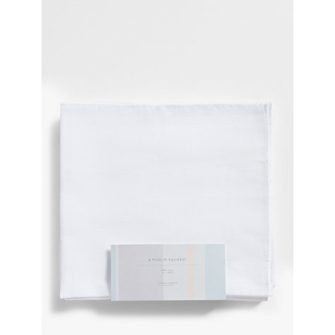Buy John Lewis Muslin Squares, Pack of 6, White Online at johnlewis.com