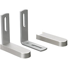 Buy John Lewis Glide Pole Mounting Kit, Brushed Silver, Dia.30mm Online at johnlewis.com