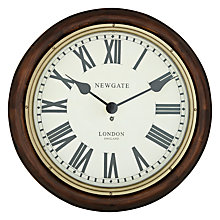 Buy Newgate Station Wall Clock, Dia.50cm Online at johnlewis.com