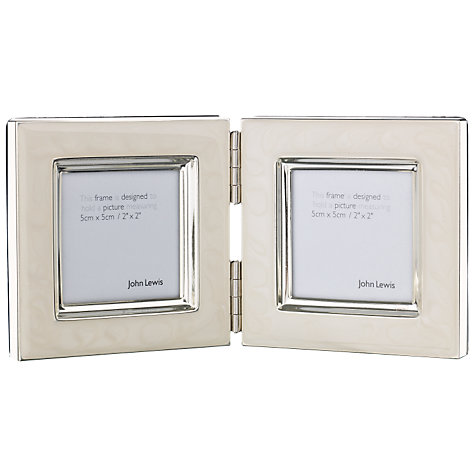 "Buy John Lewis Amy Enamel Double Photo Frame, 2 x 2"" (5 x 5cm) Online at johnlewis.com"