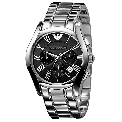 Buy Emporio Armani AR0673 Round Chronograph Bracelet Watch Online at johnlewis.com