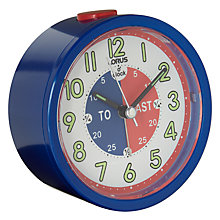 Buy Lorus Tell the Time Alarm Clock, Blue Online at johnlewis.com