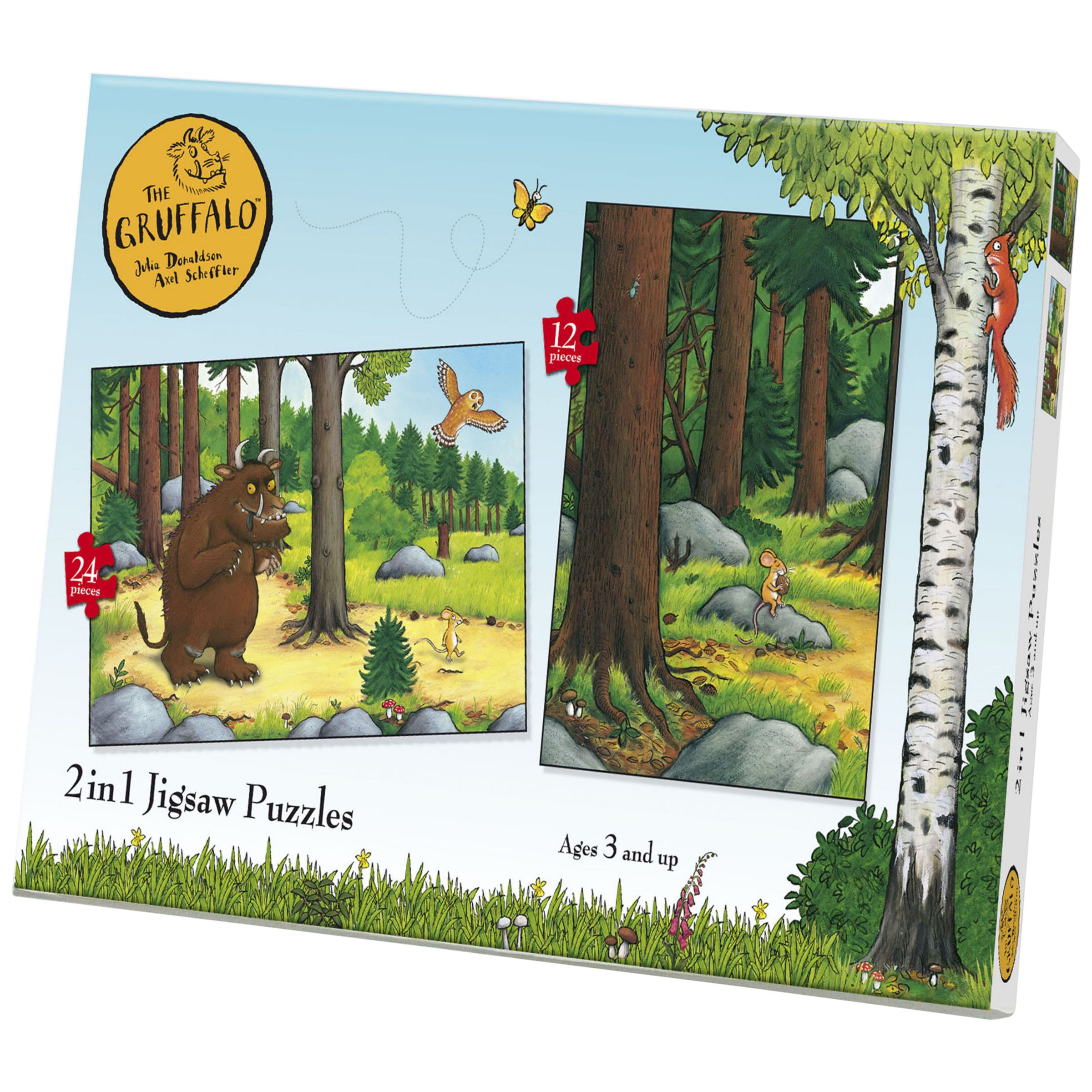 2 in 1 Gruffalo Jigsaw Puzzle, 24 Pieces 230653104