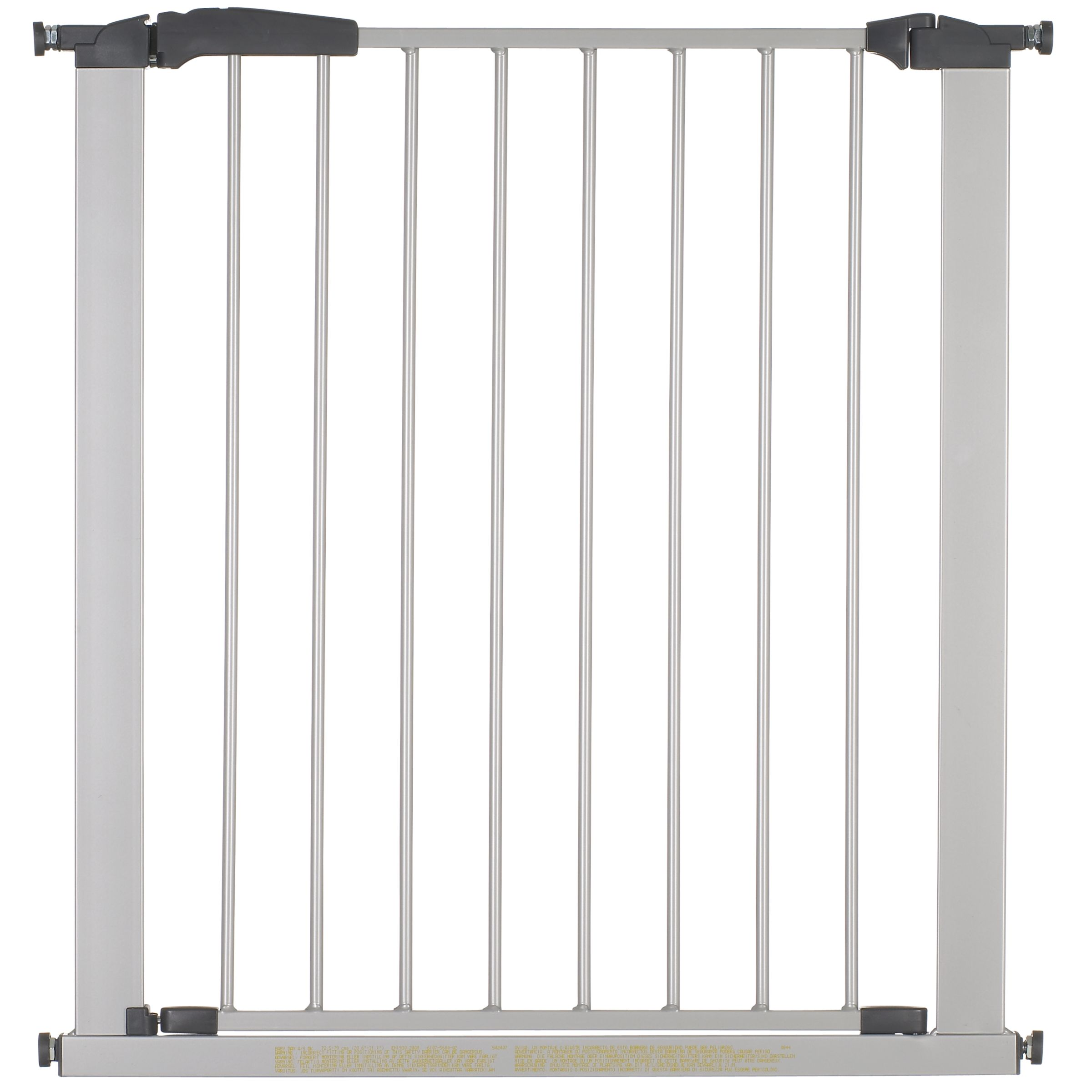 Swing Shut Safety Gate, Silver 230653171