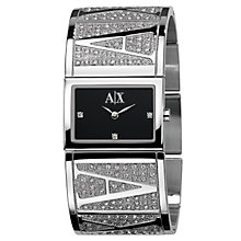 Buy Armani Exchange AX4050 Women's Cuff Bracelet Watch, Silver Online at johnlewis.com