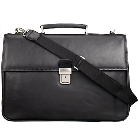 Buy John Lewis China Cusco Leather Briefcase, Black Online at johnlewis.com