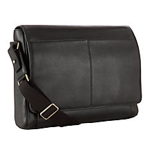 Buy John Lewis Honduras Leather Business Bag, Brown Online at johnlewis.com