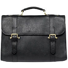 Buy Mulberry Walter Natural Leather Briefcase, Black Online at johnlewis.com